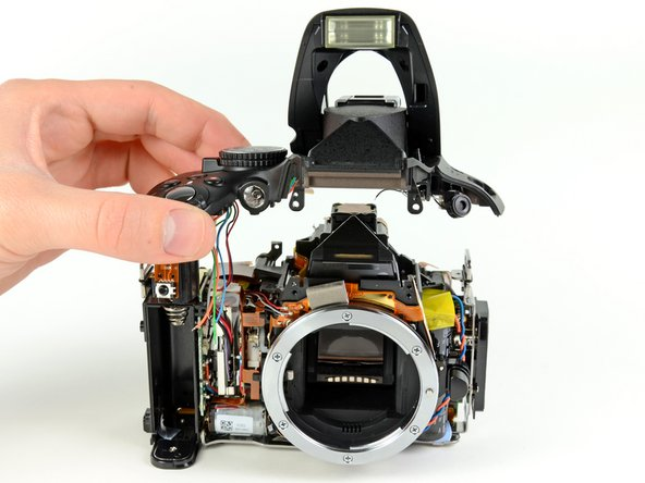 Taking off the D5100 top cover