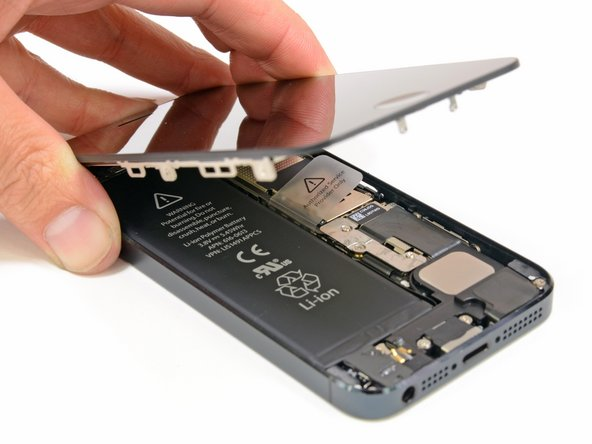 De iPhone 5 display unit is los