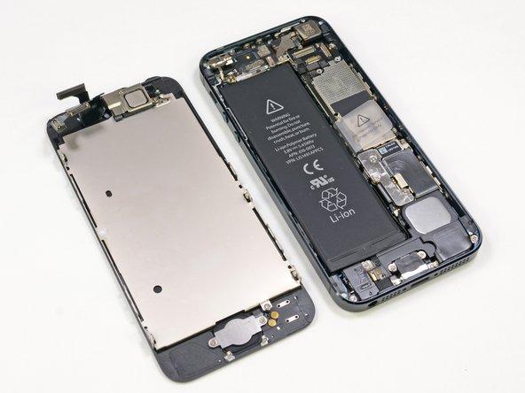 de achterkant van de iPhone5 display unit