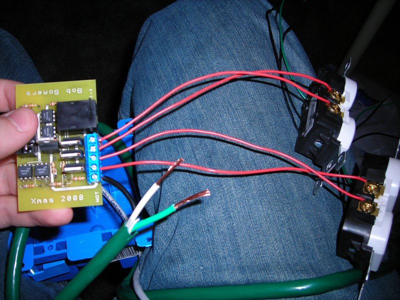 Diy christmas lights ifixit blog the cat 5 wire inside is so tiny that it cant handle powering the lights so theres a small board inside each gang box called a solid state relay solutioingenieria Gallery