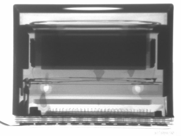 X-ray of the RAZR camera from a side view