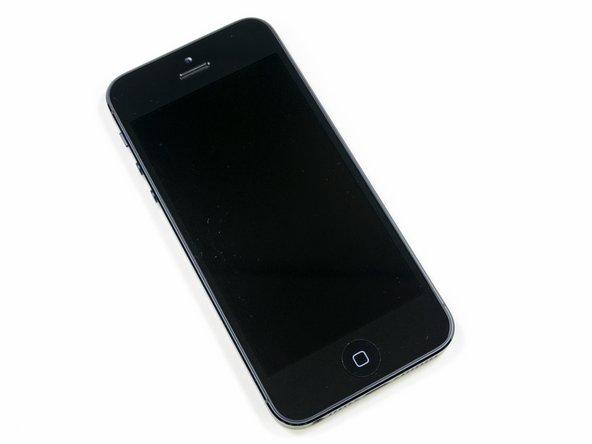 De voorkant van de nieuwe iPhone 5